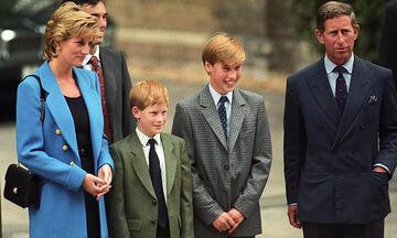 Όταν ο πρίγκιπας Harry συνόδευε τον πρίγκιπα William στο Eton College (vid)