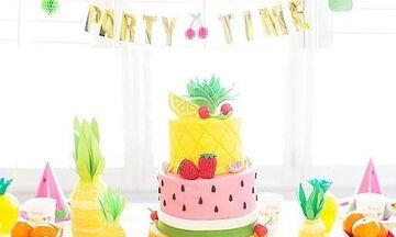 Πολύχρωμο και υγιεινό πάρτι με θέμα τα φρούτα! (pics)