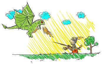 Χρωμοσελίδες για παιδιά: Ζωγραφίστε τους δράκους (pics)