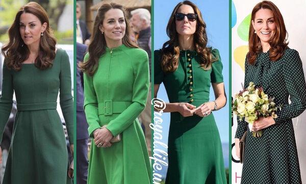 d7adfc82a6c9 Kate Middleton  Θυμόμαστε τις πιο όμορφες εμφανίσεις της με πράσινο φόρεμα  (pics + vid