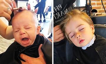 Προσπαθούν να κουρέψουν τα παιδιά αλλά δεν είναι τόσο εύκολο (vid)