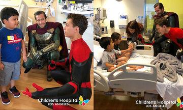 To cast του Spiderman επισκέφθηκε παιδιατρικό νοσοκομείο και το βίντεο θα σας φτιάξει την ημέρα