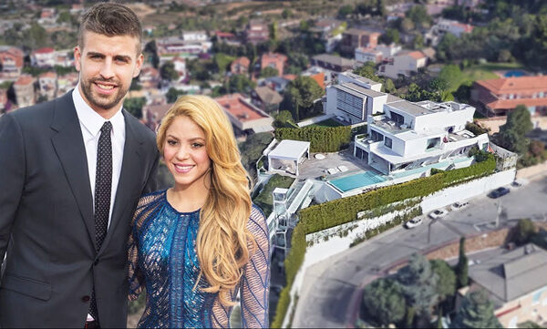 Shakira - Gerard Piqué: Αυτό είναι το εντυπωσιακό σπίτι τους στην Βαρκελώνη (vid)