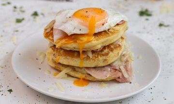 Φτιάξτε για πρωινό αλμυρά pancakes